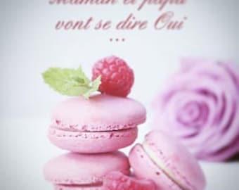 25 romantic macaron theme wedding invitation