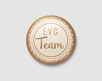 Badge wedding Shabby Chic / country - EVG Team