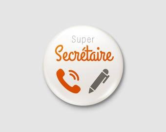 """Craft - """"Super Secretary"""" badge"""