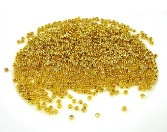 500 crimp metal gold color beads