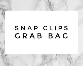 Snap Clip Grab Bag- FOUR Mystery Snap Clips