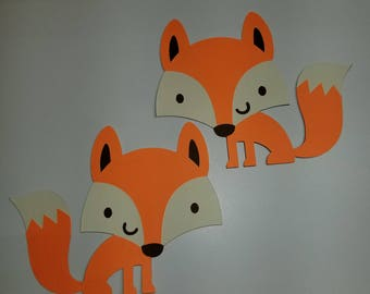 Woodland Fox Cutouts- with or without smile.