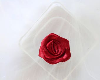 Burgundy red rose flower fabric scrapbooking