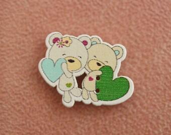 button bears heart wood