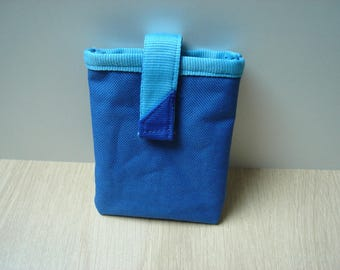Soft Blue hard drive pouch