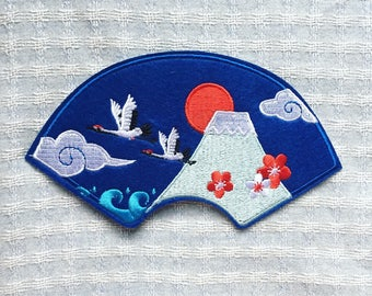 Fuji Mount Patch - Iron on Patch, Sew On Patch, Embroidered Patch