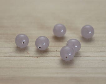 2 glass balls 6 mm hole / rose No. 4