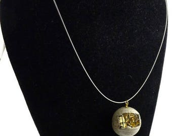 Contemporary jewelry, sphere grid necklace