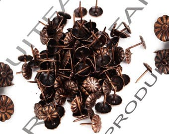 Set of 30 decorative nails copper upholstery tacks to embellish your furniture safe 11 * 16 mm frame jewelry box
