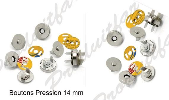 lot 12 boutons pression fermoir aimant sacs manteau. Black Bedroom Furniture Sets. Home Design Ideas