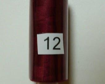 Reel 360 m burgundy polyester thread