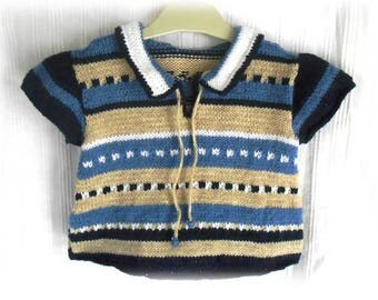 baby boy 3-6 month sweater style sailor short sleeved
