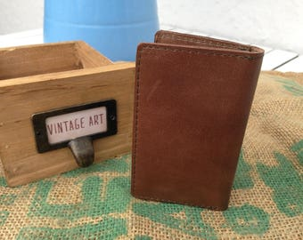 Vintage Maroon men card holder / credit card case / leather business card case