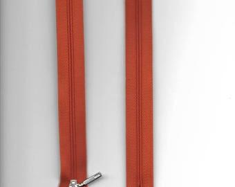 "Closure 20cm zipper""plastic"" not separable Z51 orange 676"