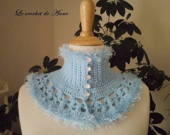 Neck sky blue, with Victorian style!
