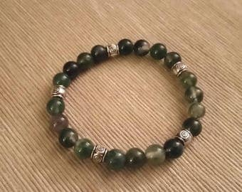 MOSS Agate (8 mm beads) bracelet