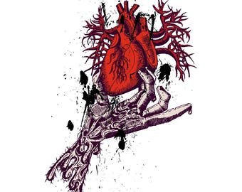 Anatomical heart in hand
