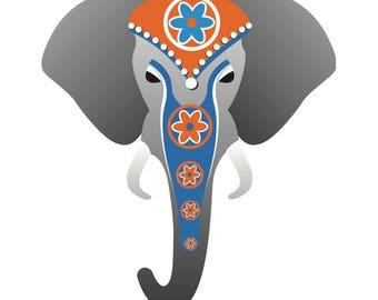 Indian ethnic head of elephant