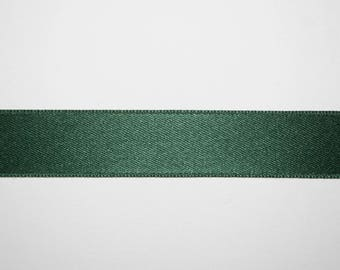 Satin Ribbon Double sided green Imperial 1.5 cm x 1 meter