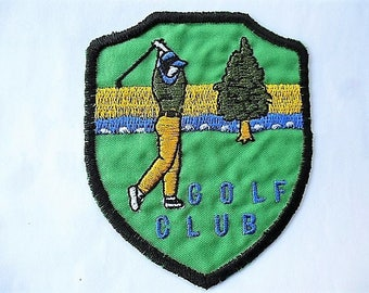 applique patch 4 GOLF CLUB vintage patch for sewing craft or sewing customization badge