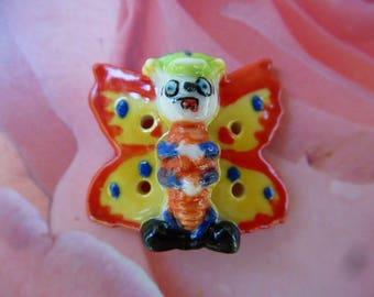 Bean porcelain multicolor wonderful Butterfly button