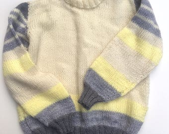 Vintage Hand Knit Toddler Sweater 3T / 4T