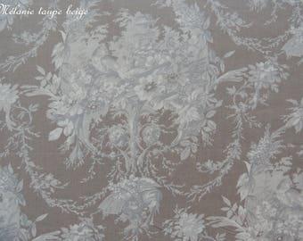 Coupon fabrics of Mas D'ousvan Melanie beige taupe