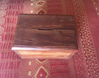 Fox wooden money box