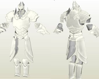 Imperius ArmorDiablo III Base model Unfolded for FOAM