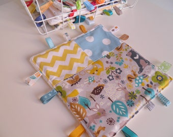 Plush animal forest and Chevron labels