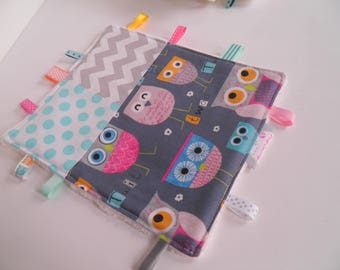 Plush owls dots and Chevron tags / creating sweet peas