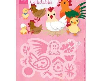 Dies Marianne Design - Chicken - hen and Chick