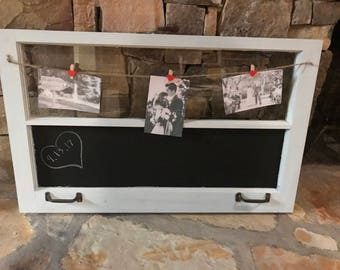 Vintage Rustic Picture Frame Chalkboard Window