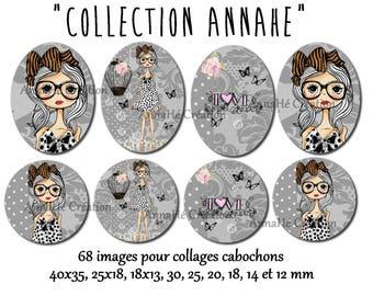 "Digital images for collage digital cabochon gem ""AnnaHé Collection"""