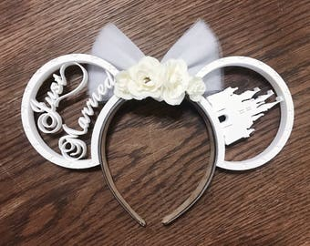 Just Married 3D Mickey Ears