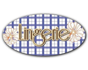Door decal style oval lingerie 029