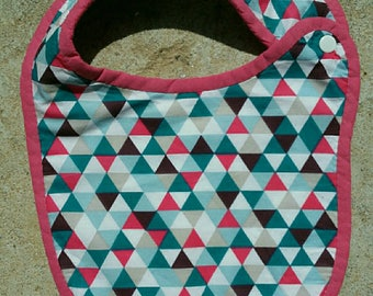 Bib birth Terry collection Triangles