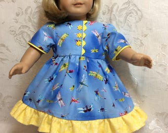 "Little Miss Sunshine dress made to fit 18"" American Girl Doll"