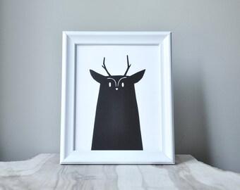 woodland series - moose print