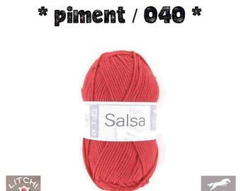 White, red pepper 040 horse Salsa ball