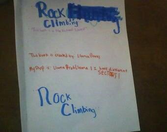 DIY: Comedy rock climbing book