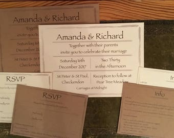 SAMPLE Border Wedding Invite set