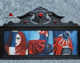 "Painting reproduction ""sensually Gothic 2"" framed Baroque"