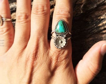 """Turquoise """"Tall Grass"""" Ring"""