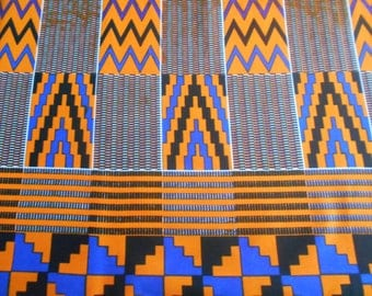 little coupon deTissu African, wax (kente pattern) 45 cm x 55cm