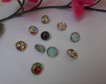 Press Stud 1 cm for jewelry - set of 10