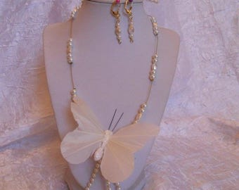Set of bridal White Butterfly