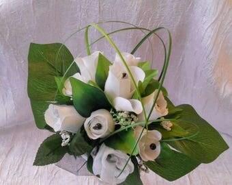 Black and white color bridal bouquet