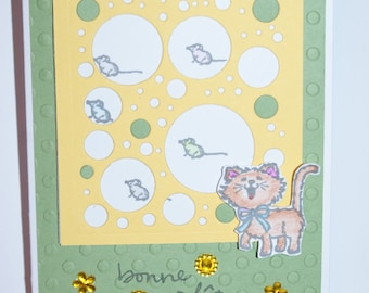 Handmade greeting card - party-
