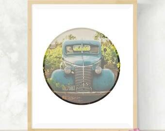 Vintage Truck Art Print | Vintage Car Print | Wanderlust | Digital Art Print | Wall Decor | Photography Print